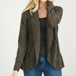 Karen Scott XL Brown Turbo Cocoon Cardigan 4Z510
